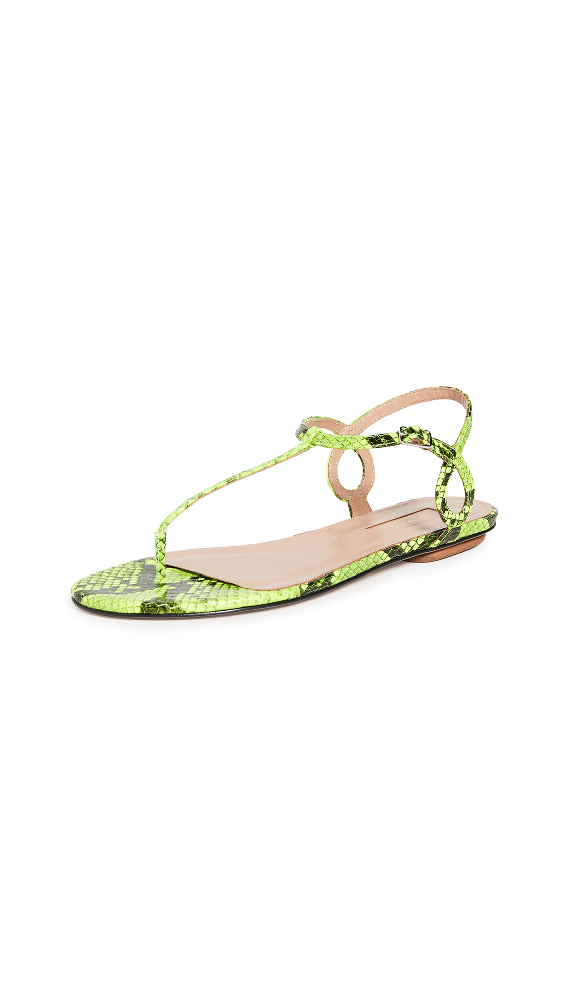 Buy Aquazzura Almost Bare Sandal Flats online, shop Aquazzura