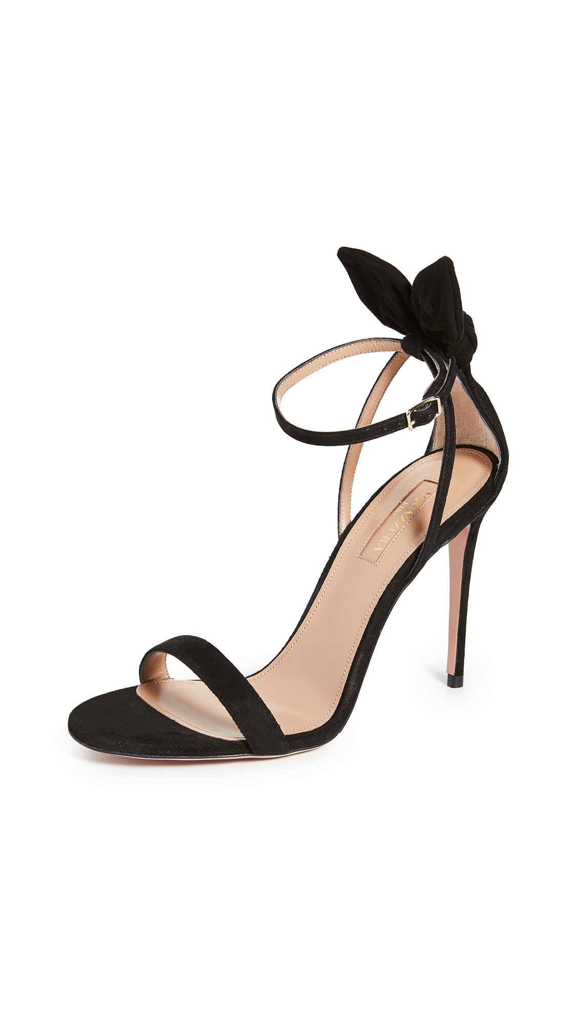 Buy Aquazzura Bow Tie Sandals 105mm online, shop Aquazzura