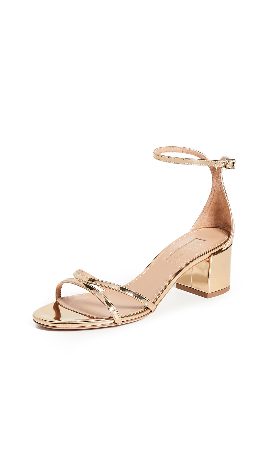 Buy Aquazzura 50mm Purist Sandals online, shop Aquazzura