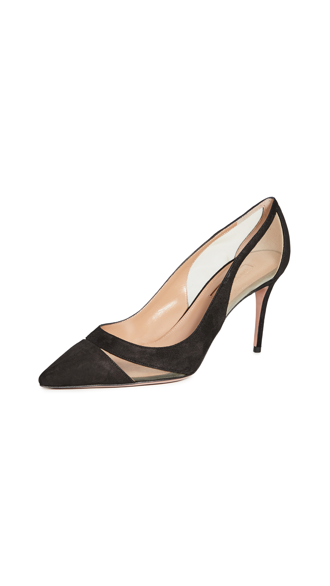 Buy Aquazzura 85mm Savoy Pumps online, shop Aquazzura