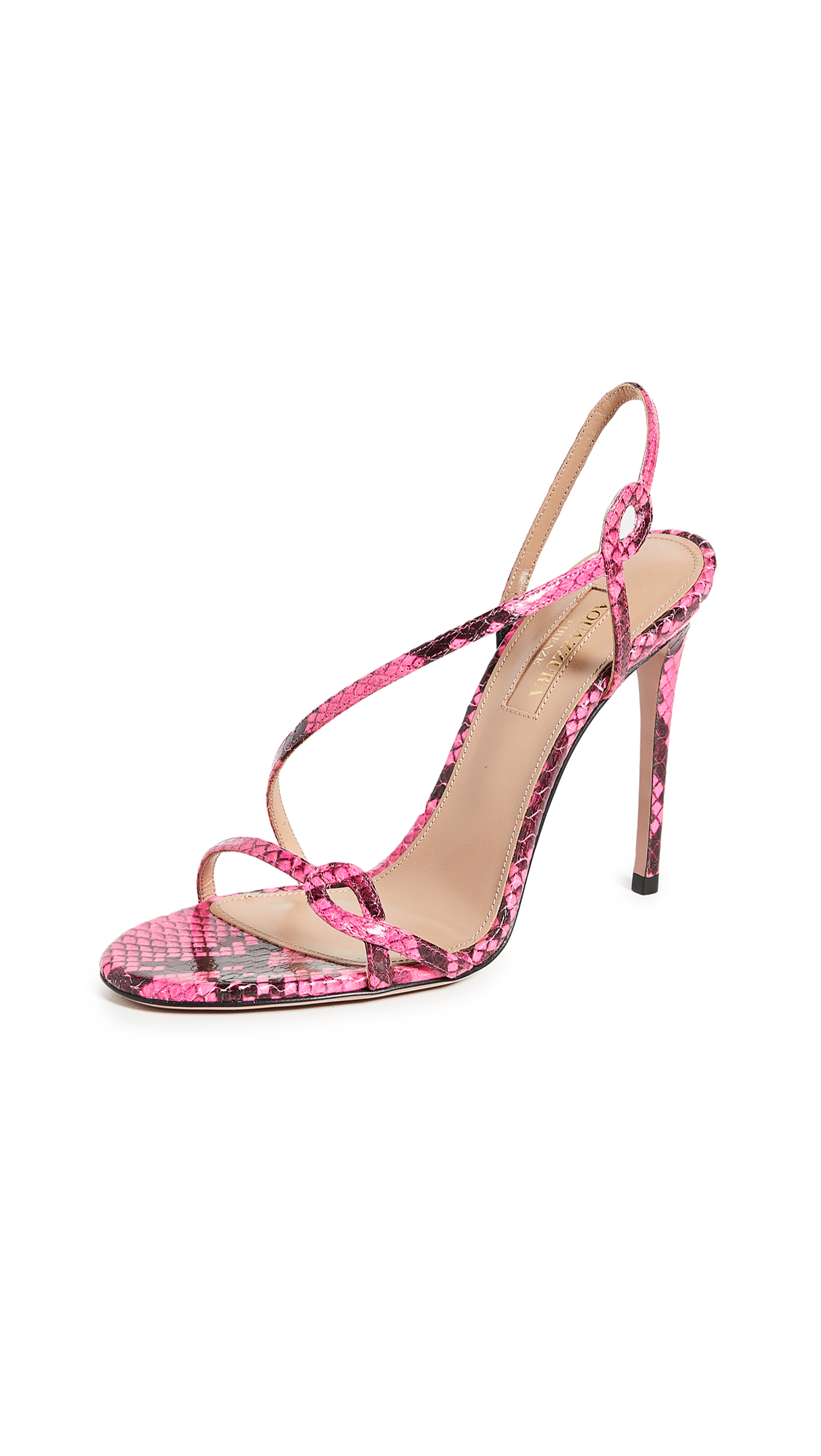 Buy Aquazzura 105mm Serpentine Sandals online, shop Aquazzura