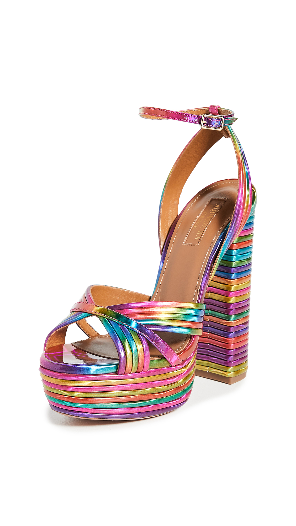 Buy Aquazzura online - photo of Aquazzura Sundance Plateau 140mm Sandals