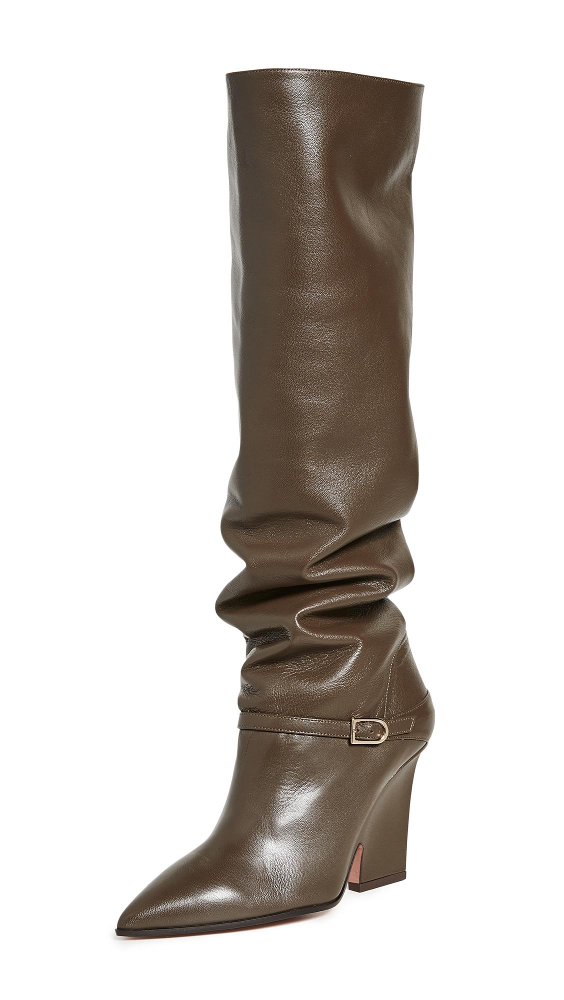 Buy Aquazzura 95mm Venice Boots online, shop Aquazzura