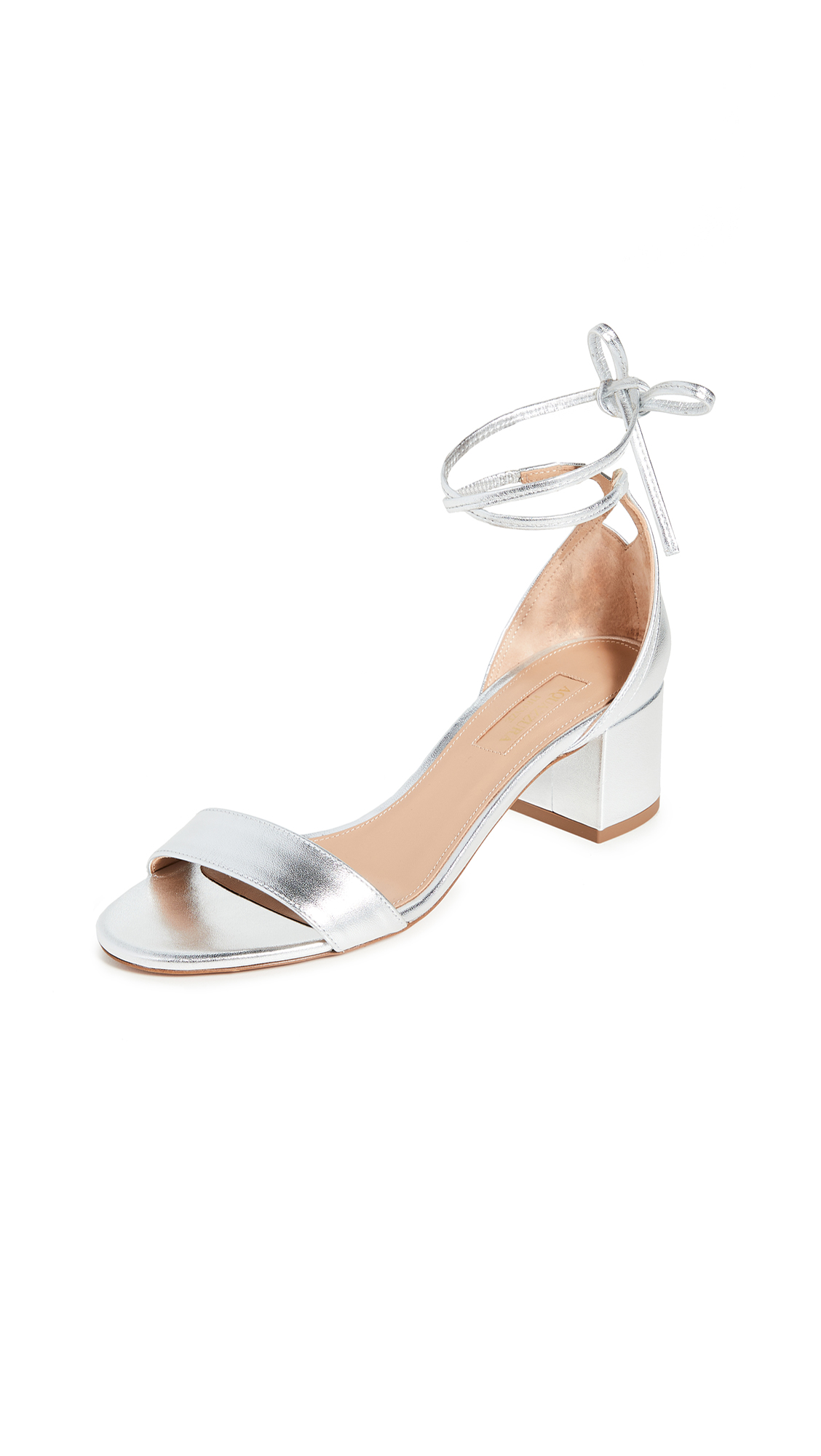 Buy Aquazzura City Sandals 50mm online, shop Aquazzura