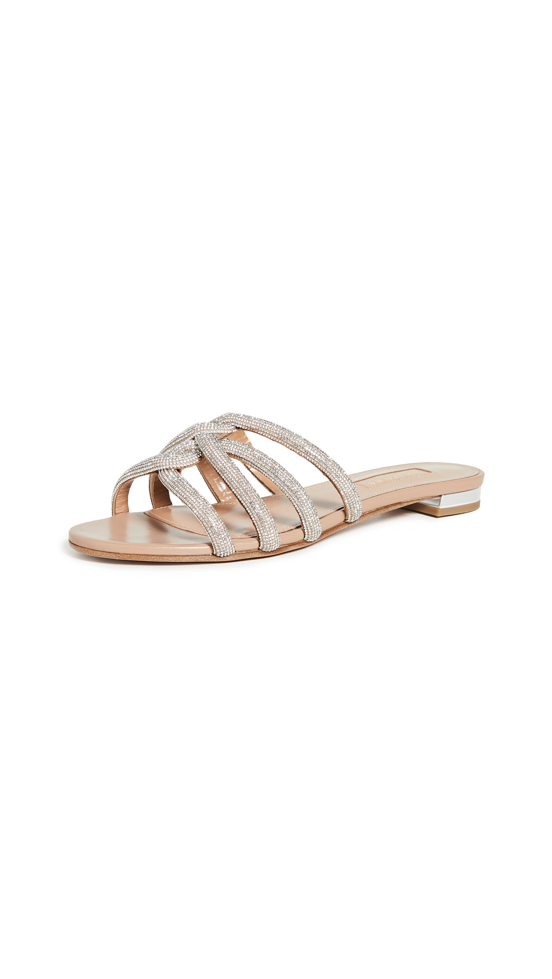 Buy Aquazzura Moondust Flats online, shop Aquazzura