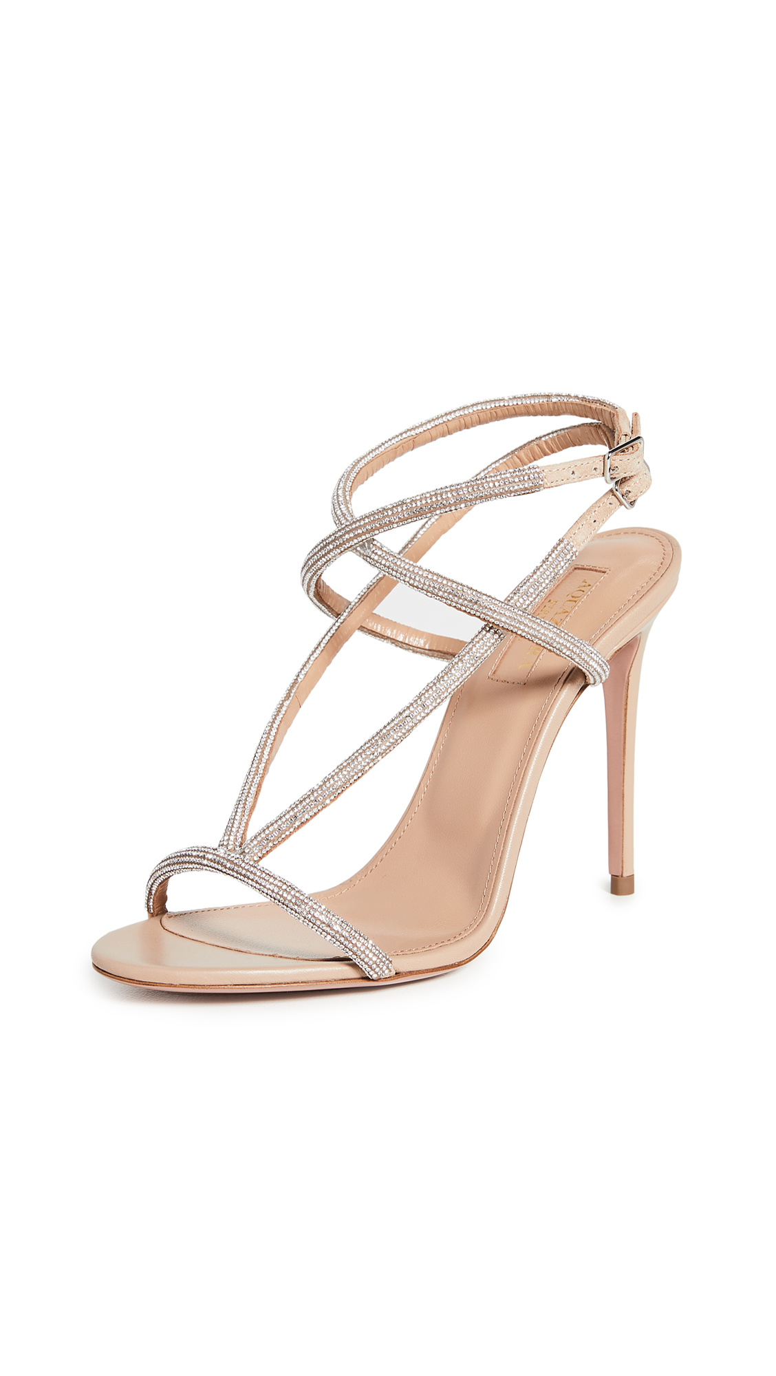 Buy Aquazzura 105mm Moondust Sandals online, shop Aquazzura