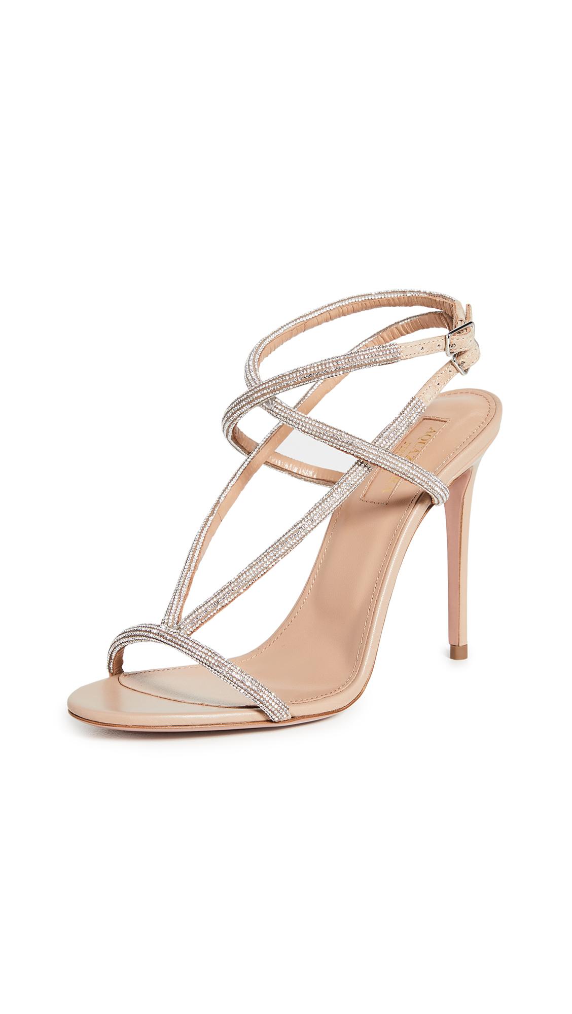 Buy Aquazzura 105mm Moondust Sandals online, shop Aquazzura