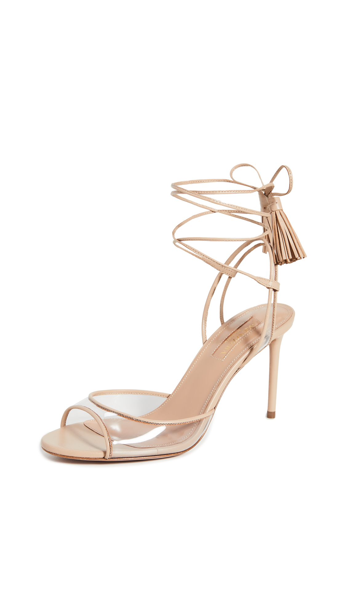 Buy Aquazzura Nudist 85mm Sandals online, shop Aquazzura