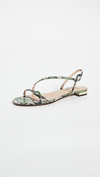 Aquazzura Sandals SERPENTINE SANDAL FLATS