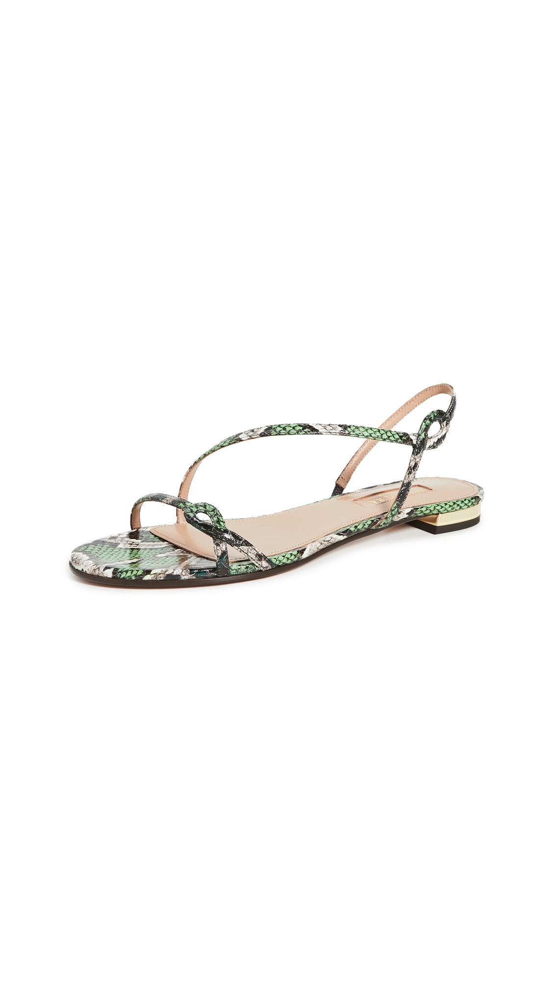 Buy Aquazzura Serpentine Sandal Flats online, shop Aquazzura