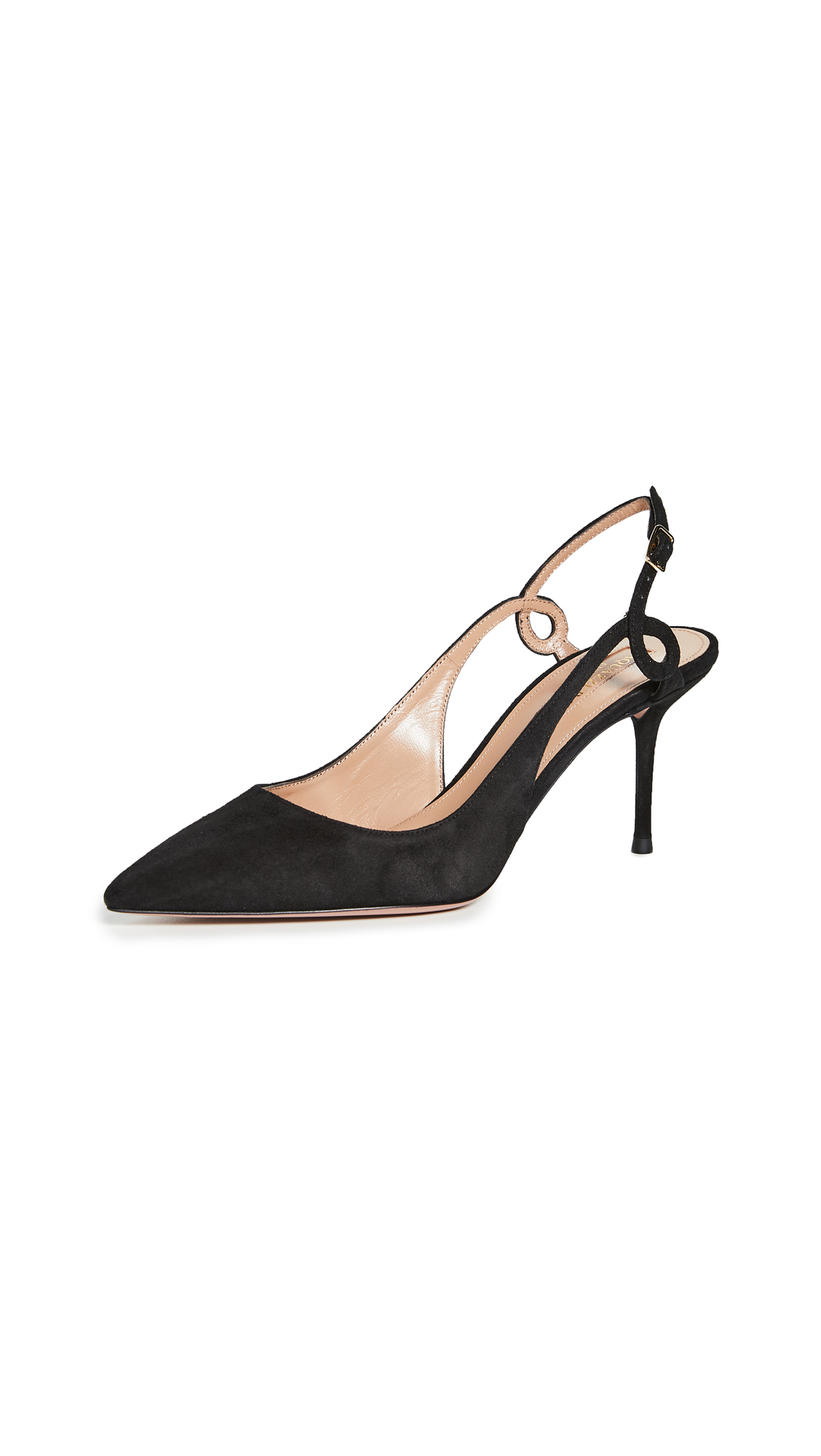 Buy Aquazzura Serpentine Slingbacks 75mm online, shop Aquazzura