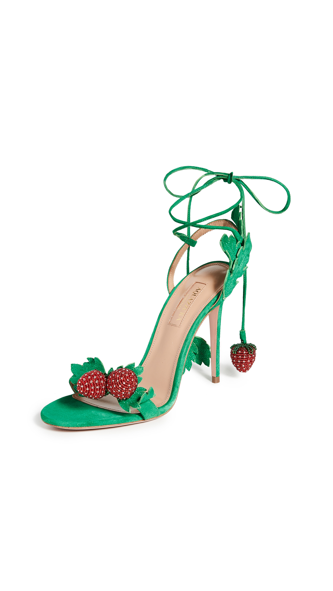 Buy Aquazzura Fragolina Sandals 105mm online, shop Aquazzura