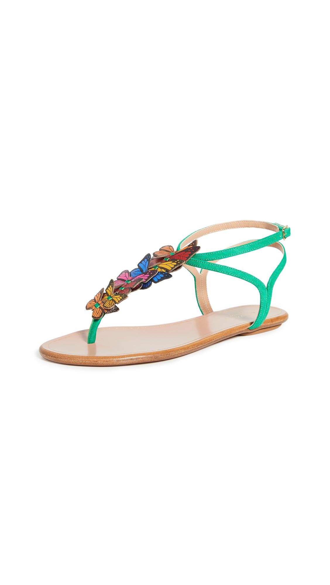 Buy Aquazzura Papillon Sandal Flats online, shop Aquazzura