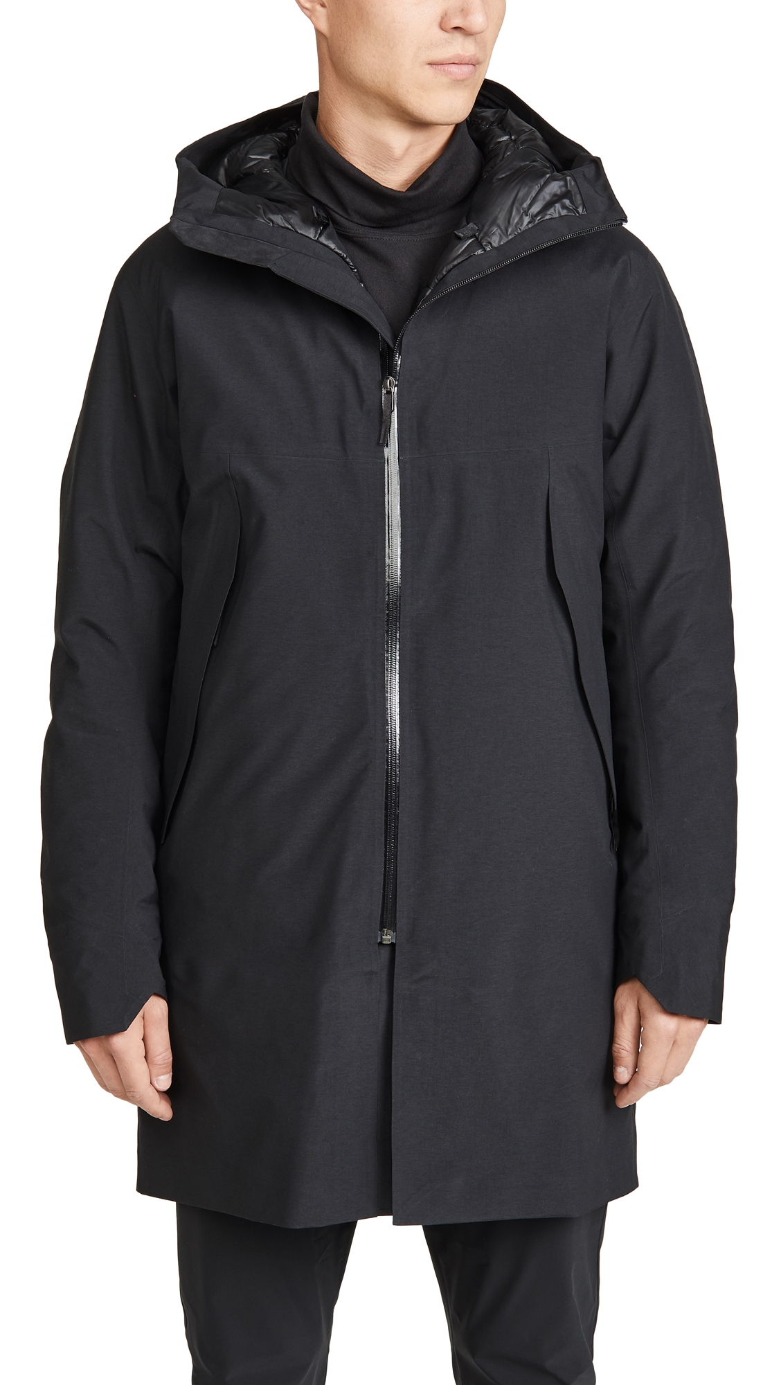 Arc'teryx Monitor Down Jacket In Black
