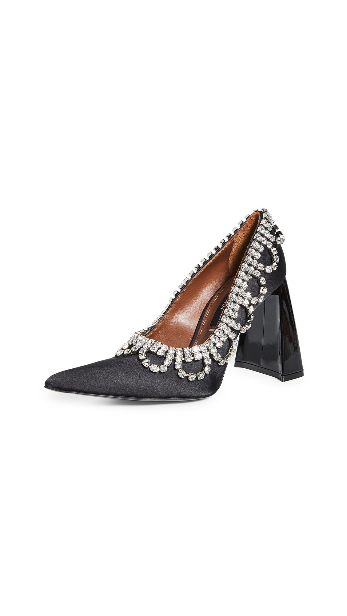"Area Scalloped Crystal ""A"" Heel Pumps – 70% Off Sale"