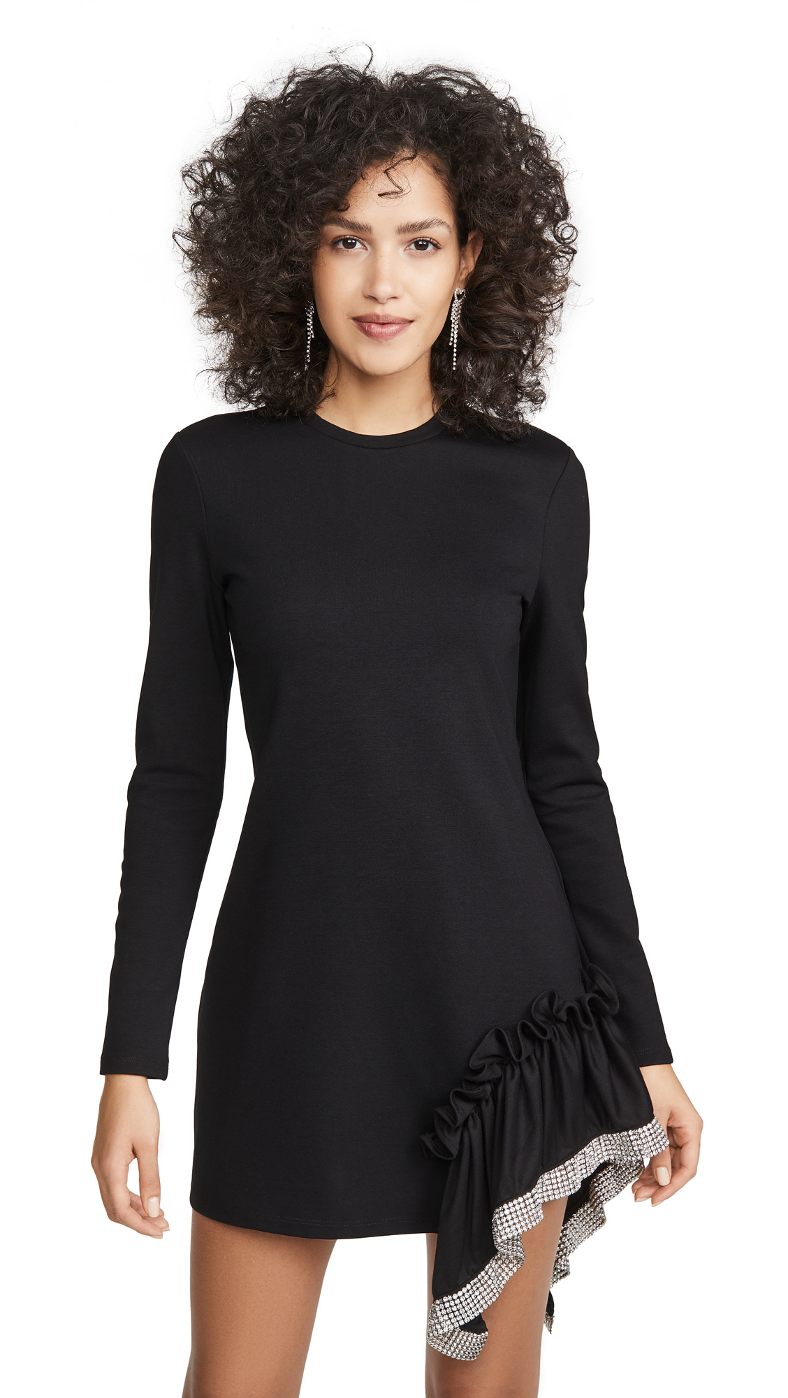 Buy Area online - photo of Area Ponte Jersey Crystal Peplum T-Shirt Dress
