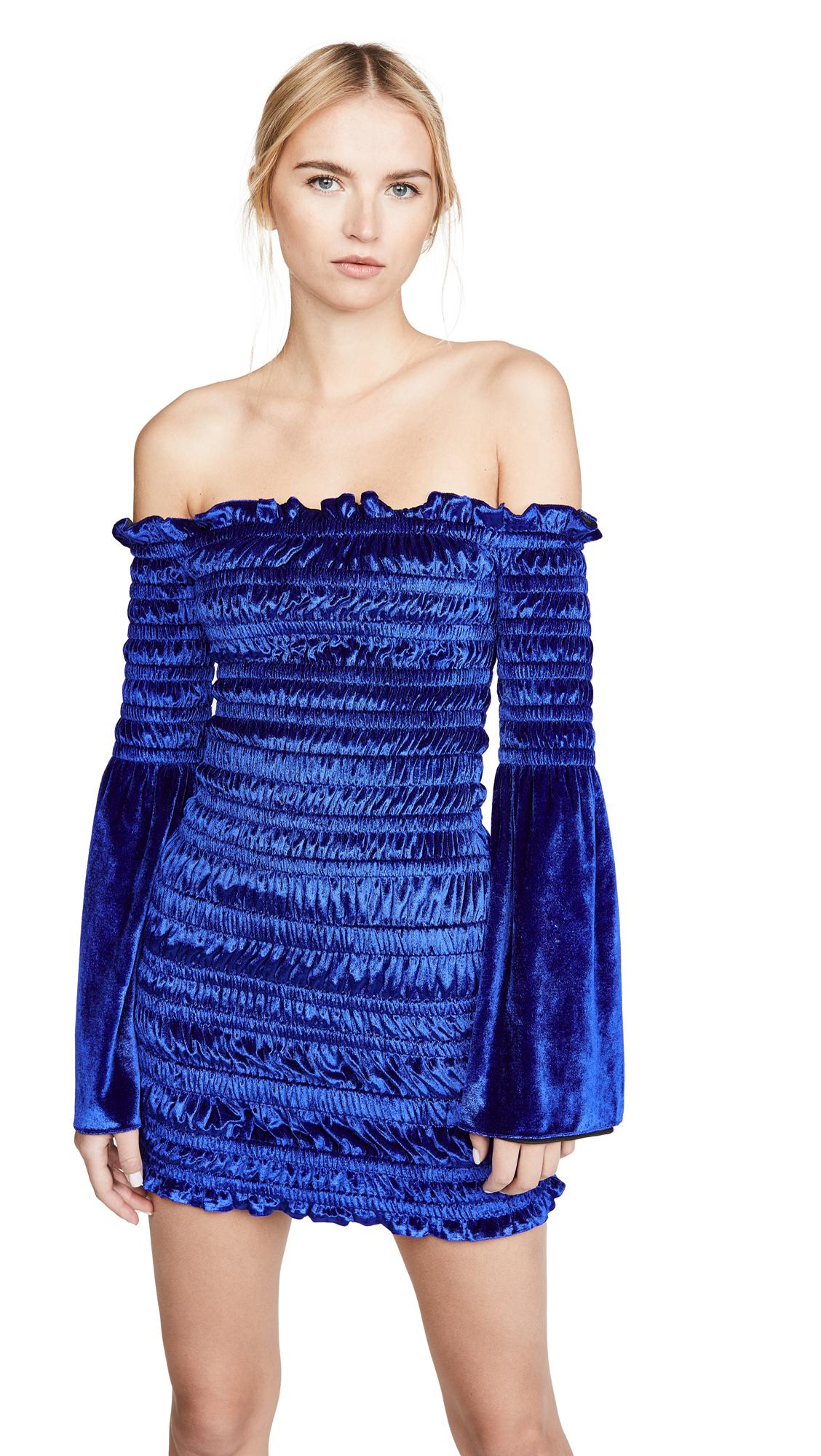 Area Fluid Velvet Ruched Dress - 50% Off Sale