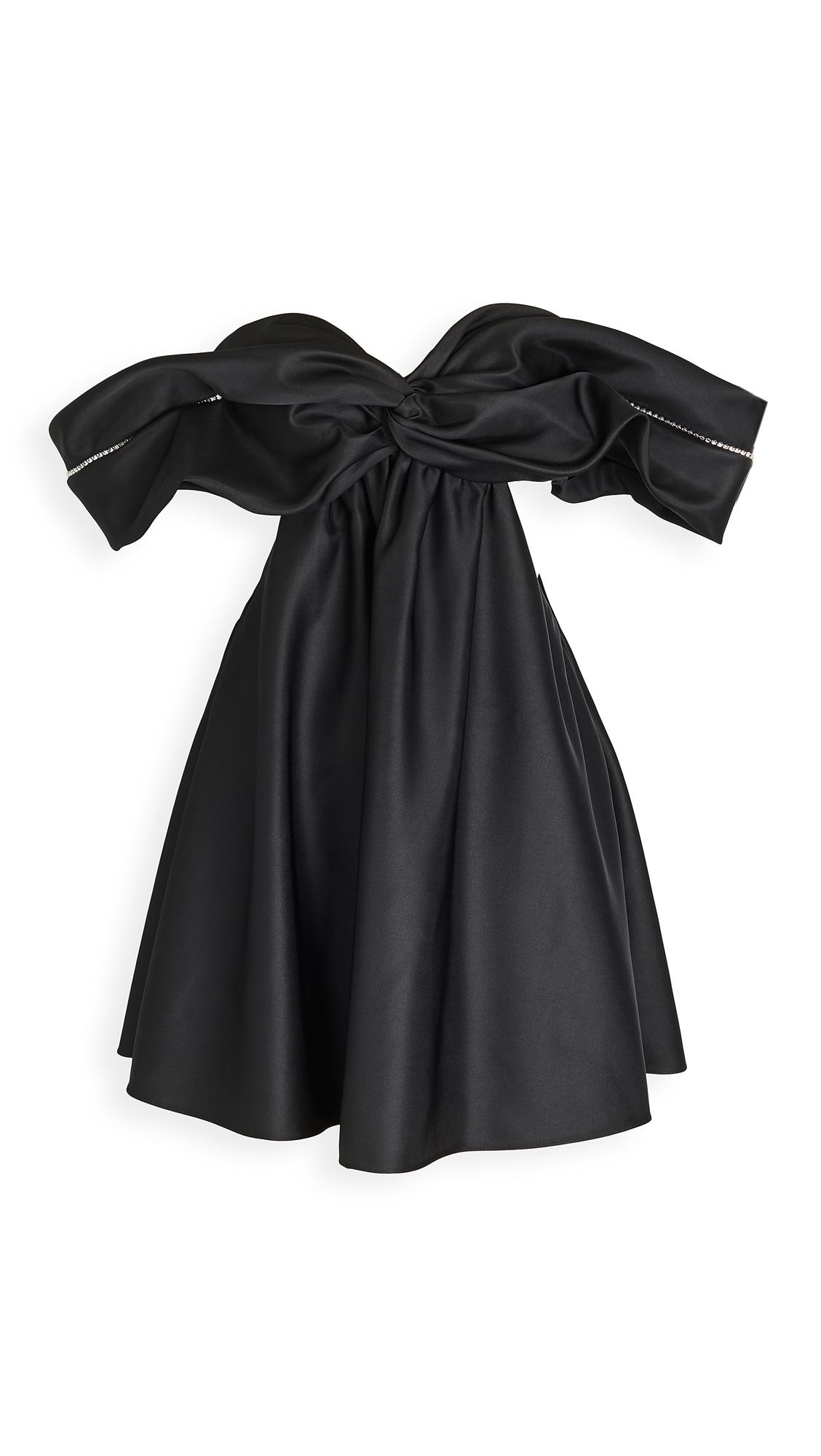 Area Crystal Cutout Draped Dress - 40% Off Sale