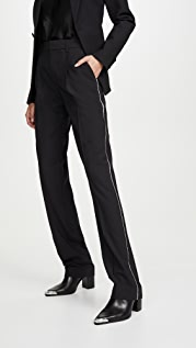 Area Crystal Trim Straight Leg Trousers