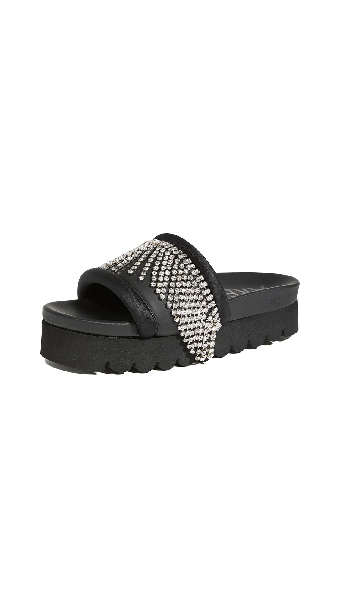 Buy Area Crystal Fringe Platform Sandals online, shop Area