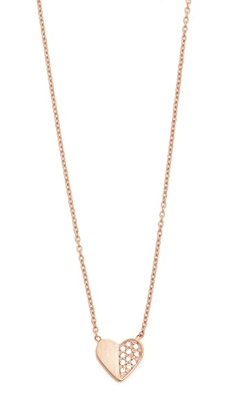 Ariel Gordon Jewelry 14k Gold Close to My Heart Necklace - Rose Gold/Clear