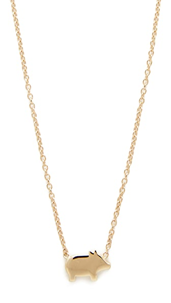 Ariel Gordon Jewelry 14k Gold The Menagerie Piglet Necklace - Gold