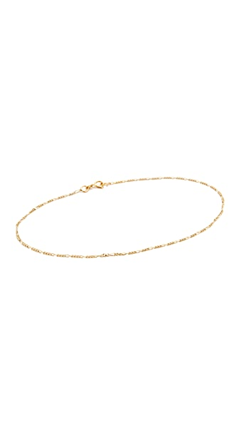 Ariel Gordon Jewelry 14k Gold Figaro Anklet In Gold