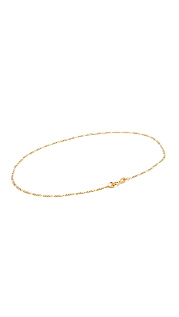 Ariel Gordon Jewelry 14k Gold Figaro Anklet