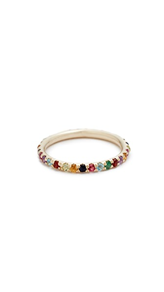 Ariel Gordon Jewelry Candy Crush Band Ring - Gold/Multi