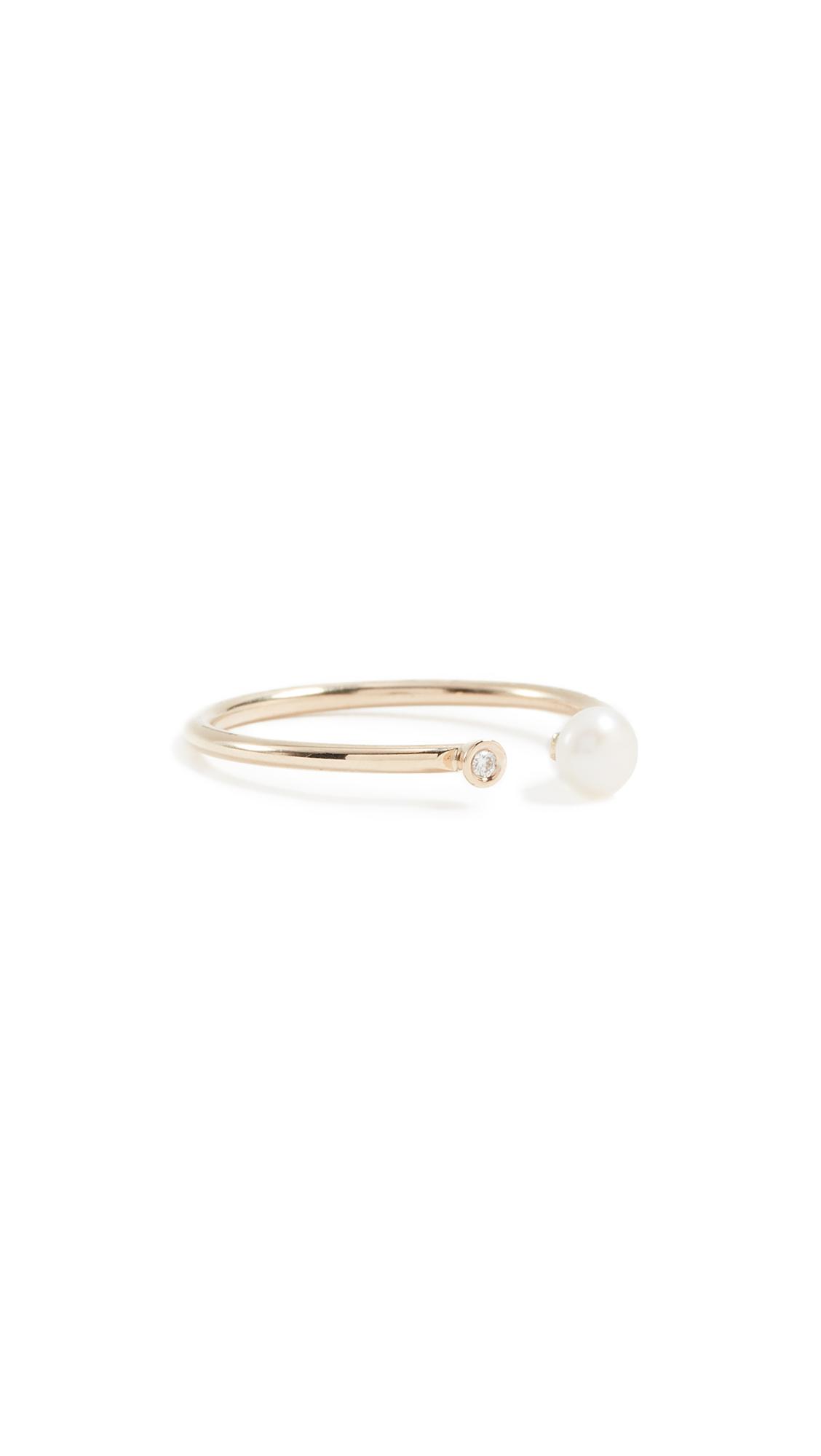 ARIEL GORDON JEWELRY PEARL & DIAMOND RING
