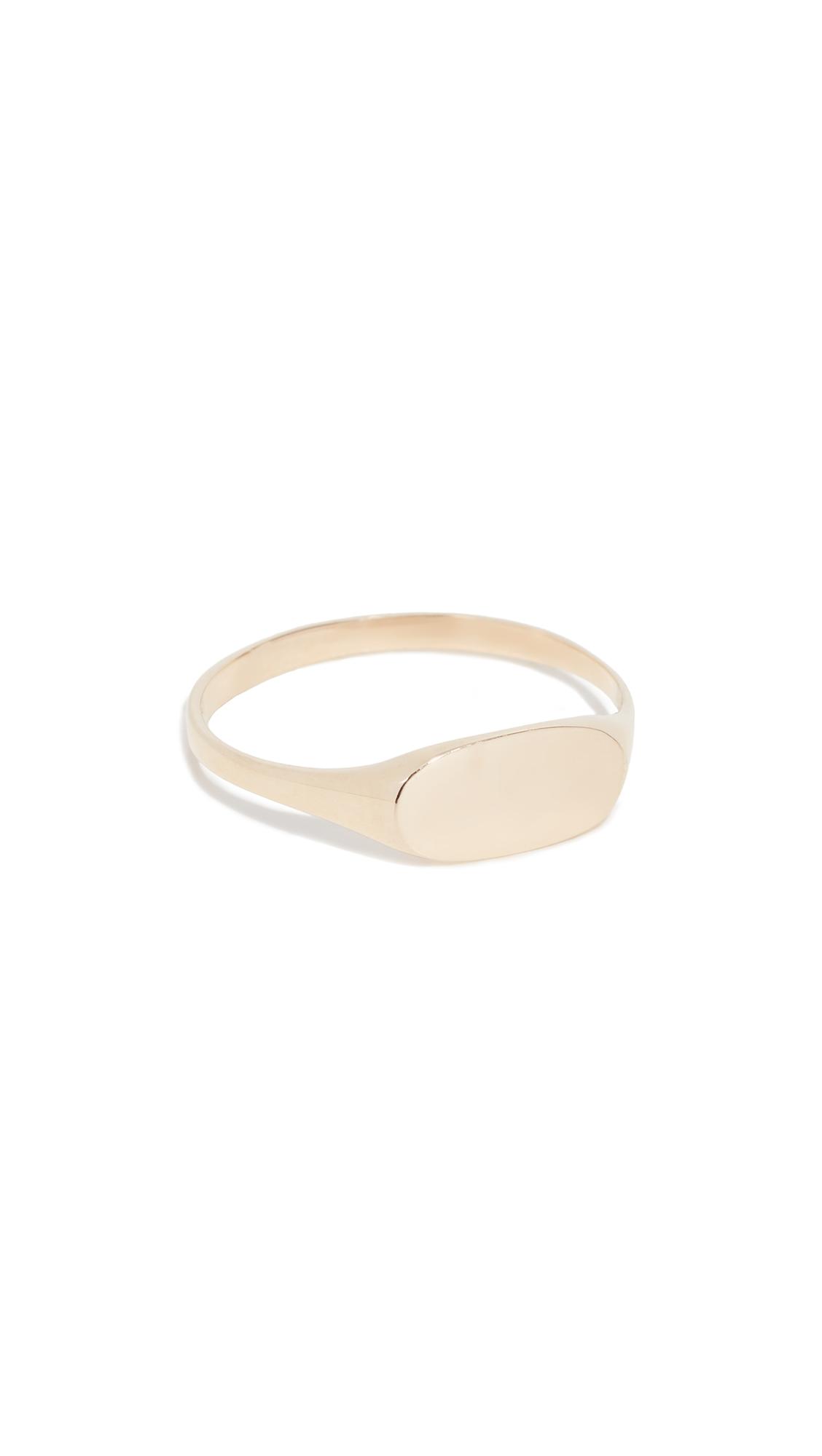 ARIEL GORDON JEWELRY 14K Petite Signet Ring in Yellow Gold