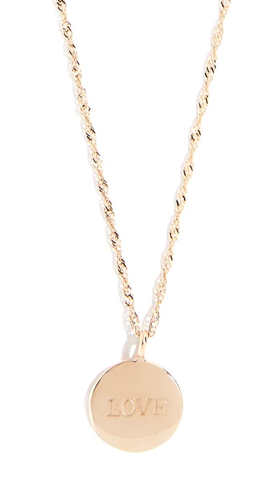 ARIEL GORDON JEWELRY 14K Demi Medallion Signet Necklace in Yellow Gold