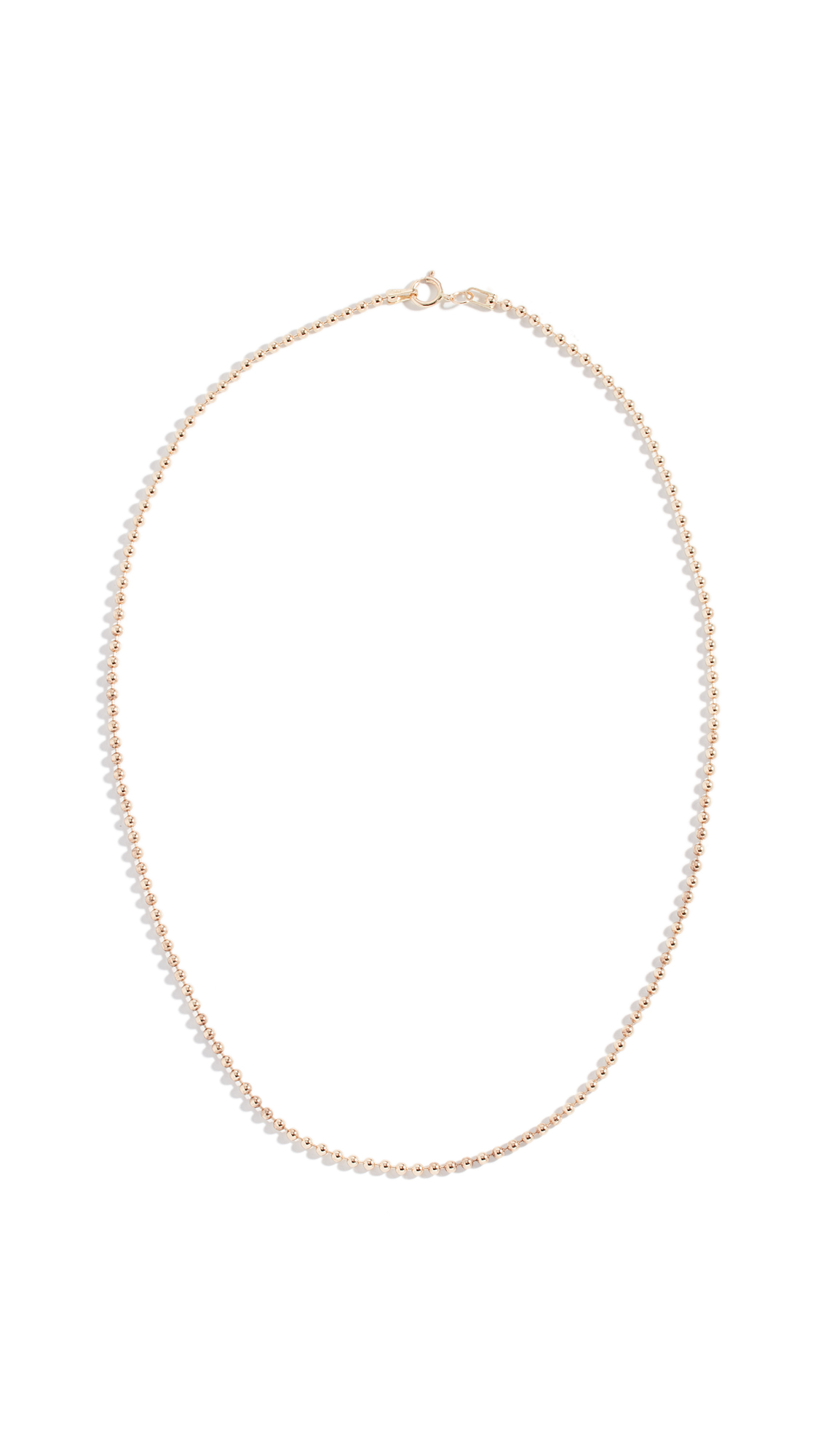 14K Spot Chain Neckalce, Yellow Gold
