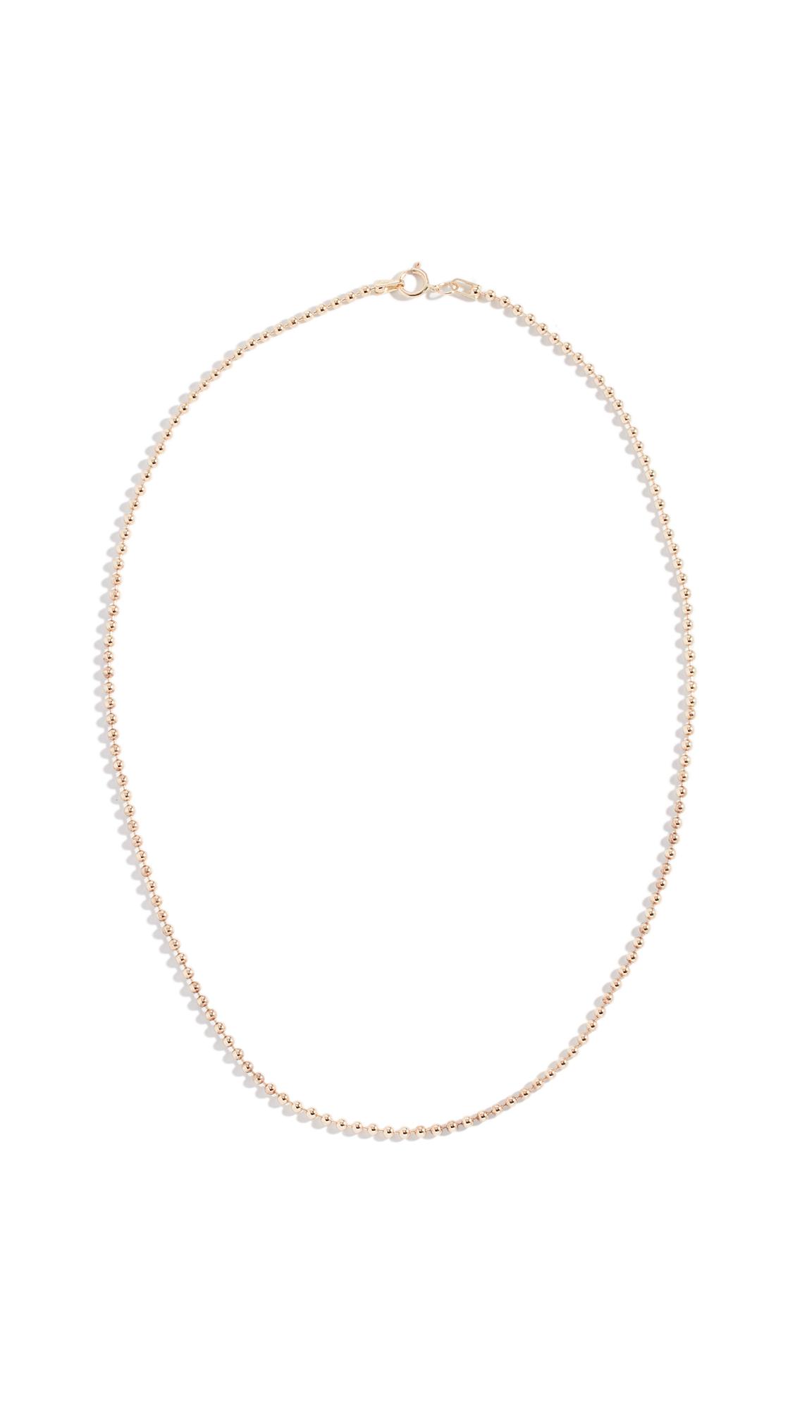 ARIEL GORDON JEWELRY 14K Spot Chain Neckalce in Yellow Gold