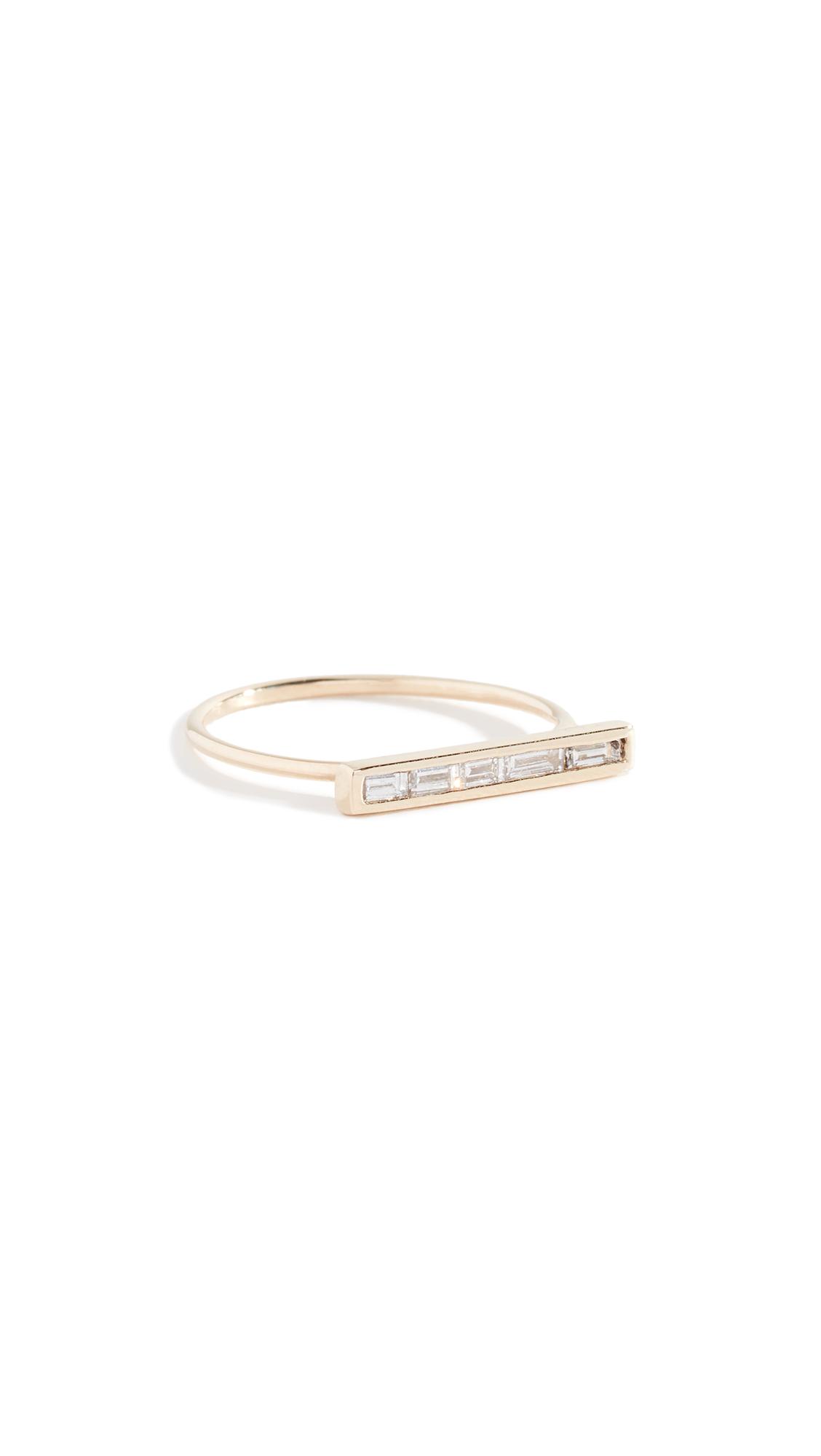 ARIEL GORDON JEWELRY 14K Baguette Diamond Ring in Yellow Gold