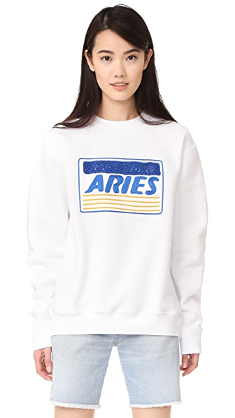 Aries Credit Card Embroidered Sweatshirt