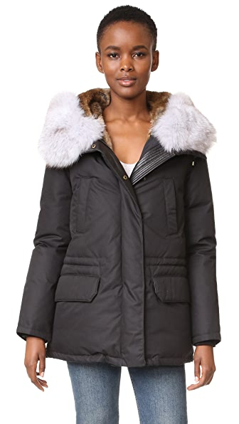 Army By Yves Salomon Down Parka with Fur Trim