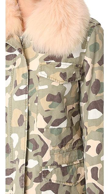 Army By Yves Salomon Camo Jacket