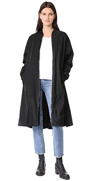 Army By Yves Salomon Fur Lined Jacket In Noir