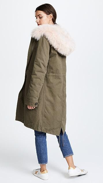 Army By Yves Salomon Long Reversible Fur Parka