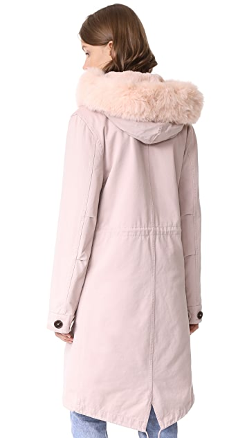 Army By Yves Salomon Long Parka with Fur Lining