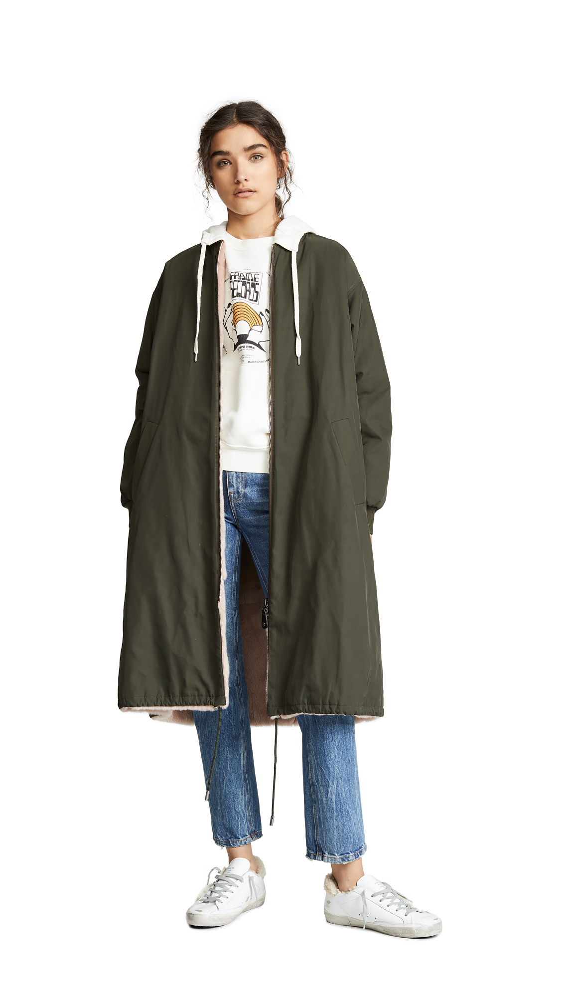 Army By Yves Salomon Reversible Rabbit Coat