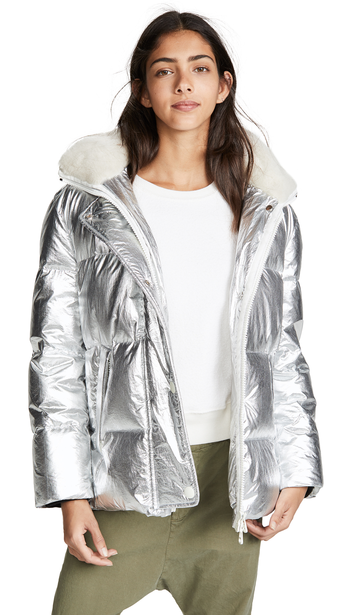 Army By Yves Salomon Silver Puffer