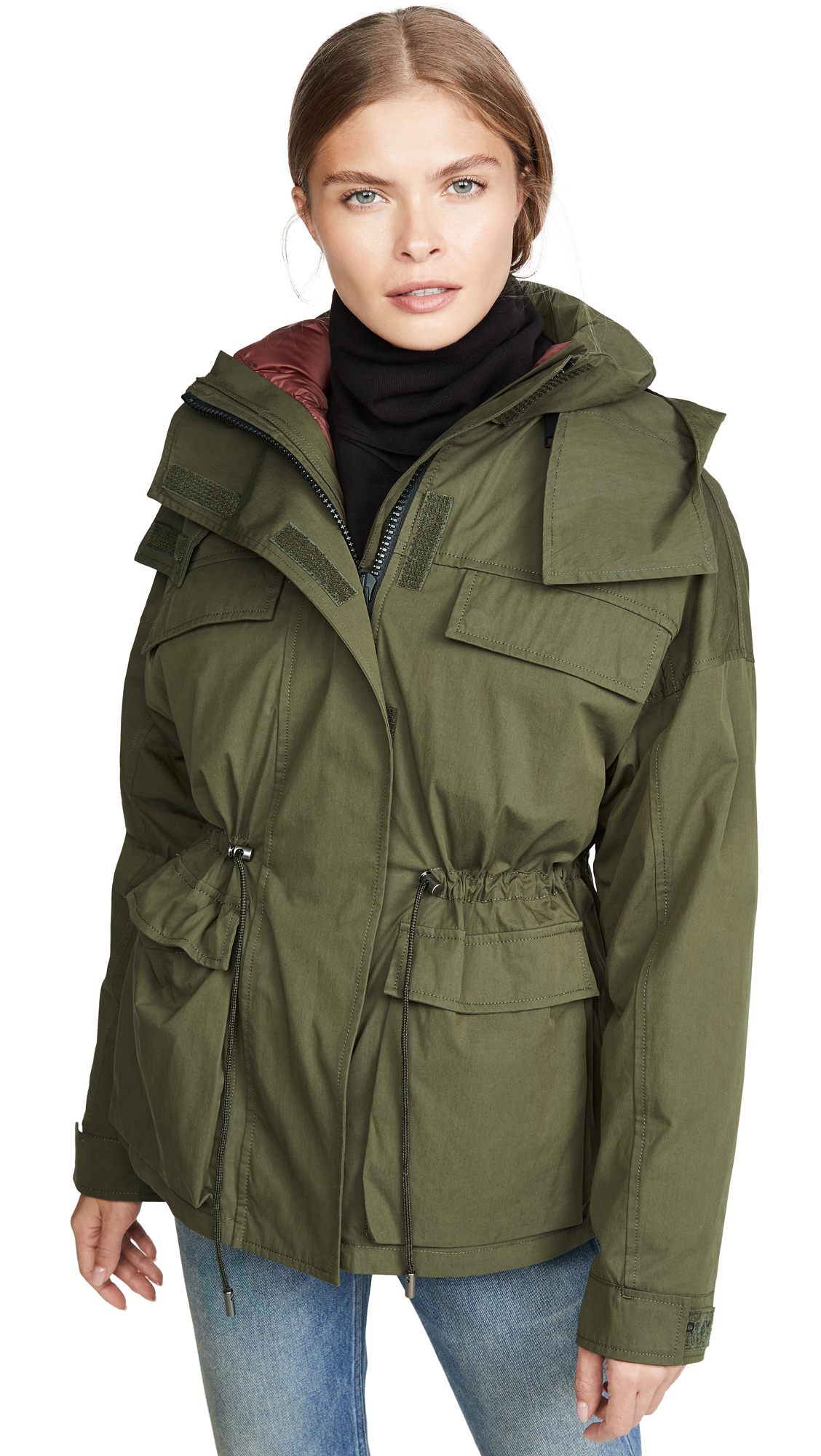 Buy Army By Yves Salomon online - photo of Army By Yves Salomon Bachette Nylon Lined Parka