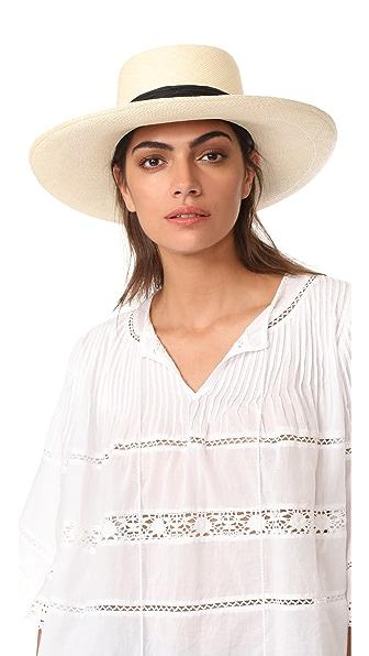 Artesano Polo Double Cord Hat - Natural/Black
