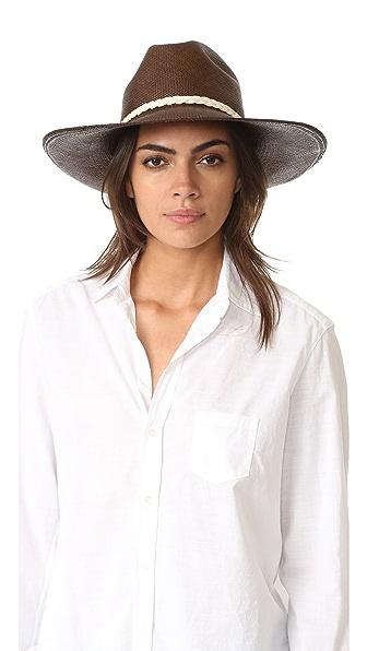 Шляпа Clasico с широкими полями Artesano. Цвет: бордовый/телесный