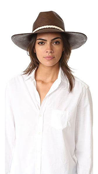 Artesano Clasico Wide Brim Hat - Maroon/Natural