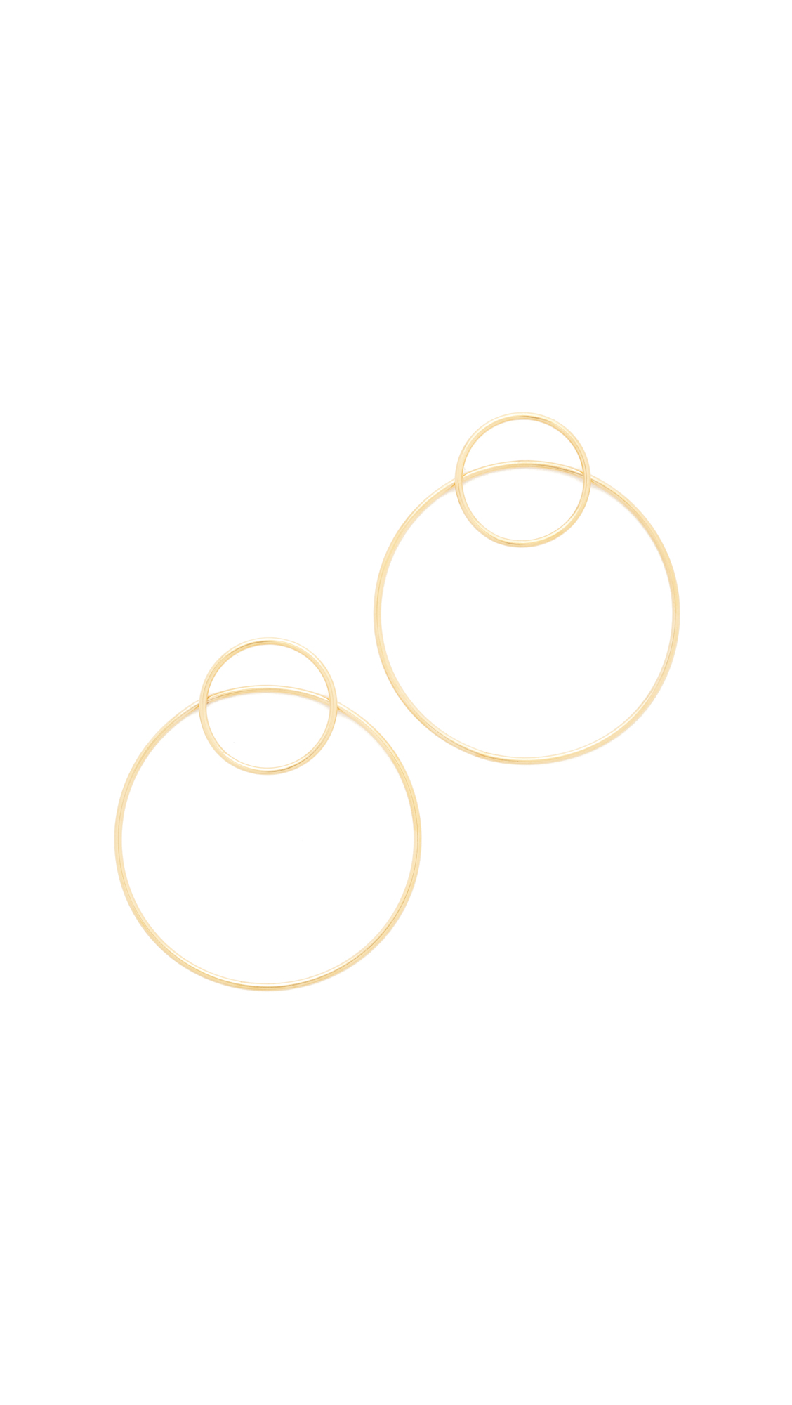Amber Sceats Gray Earrings - Gold