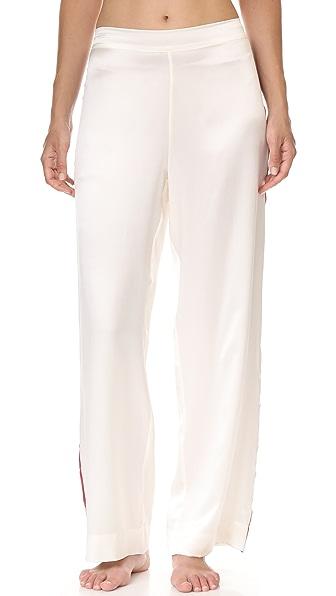 ASCENO Pyjama Bottoms - Ochre Blood Stripe