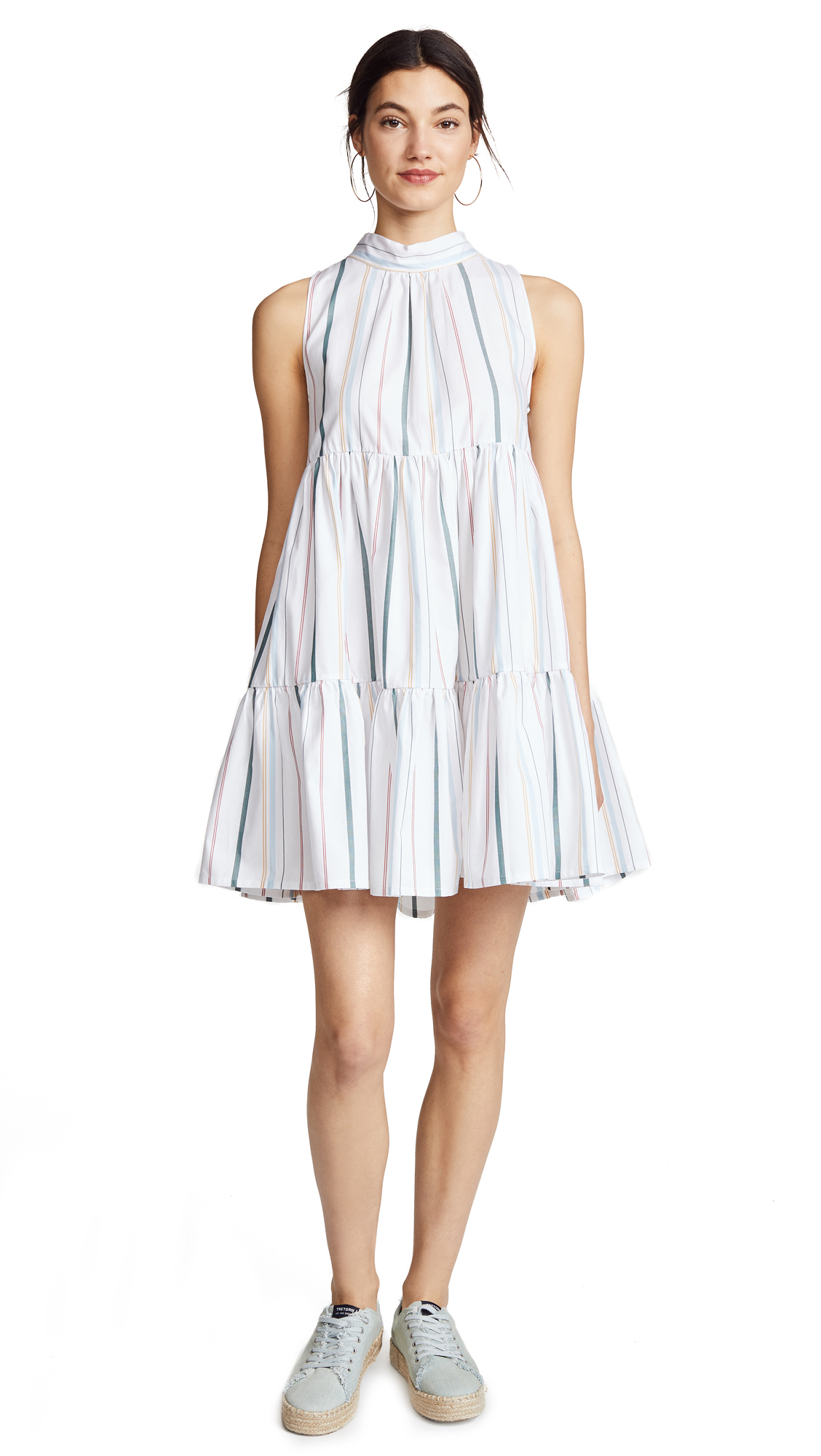 ASCENO Short Neck Tie Dress